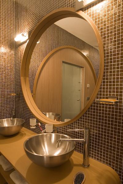 Moderne badkamer spiegel