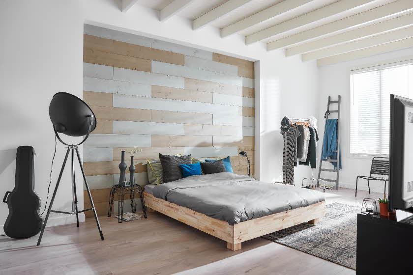 Steigerhout Behang Slaapkamer : Steigerhout inspiratie voor in je huis: 5 tips!