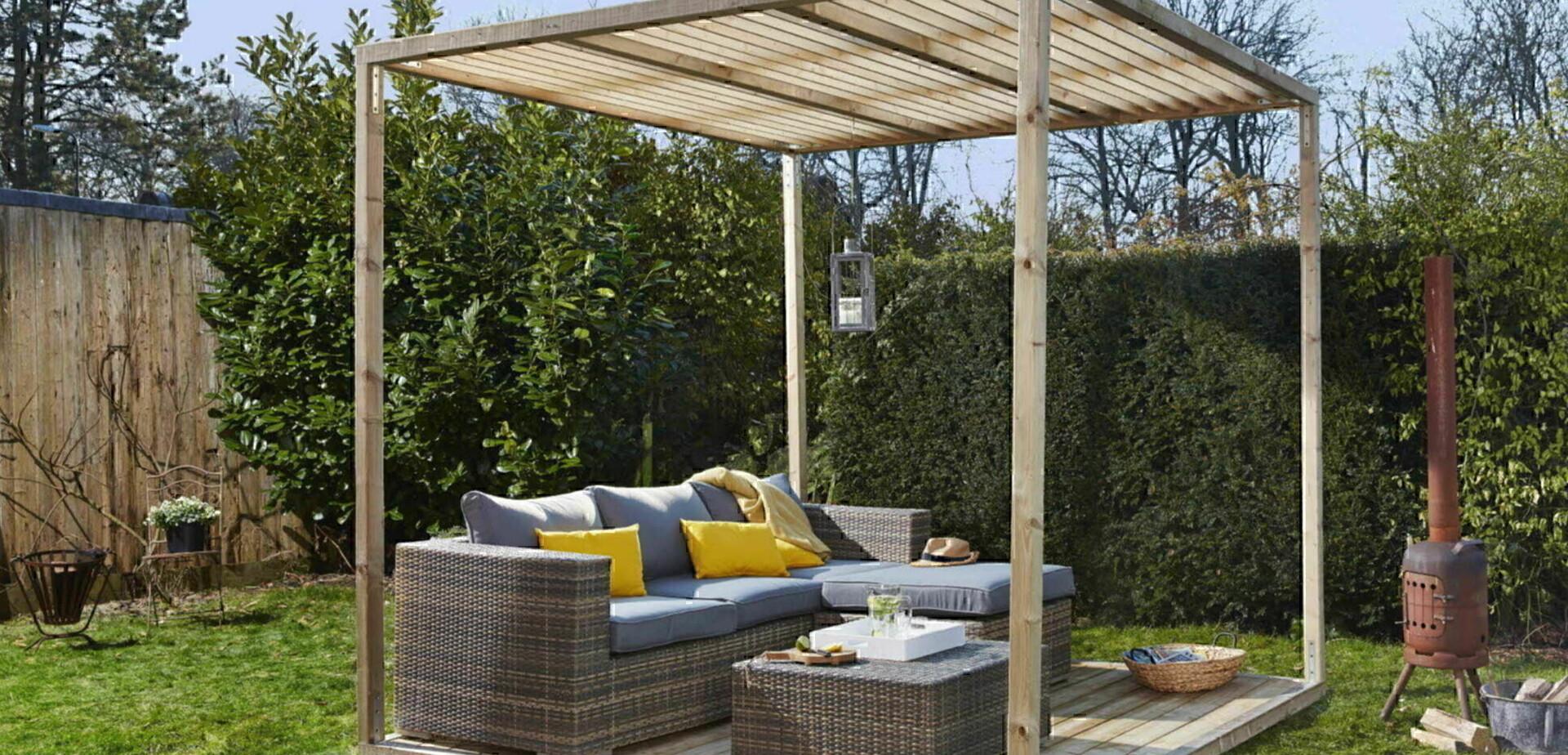 pergola maken. Black Bedroom Furniture Sets. Home Design Ideas