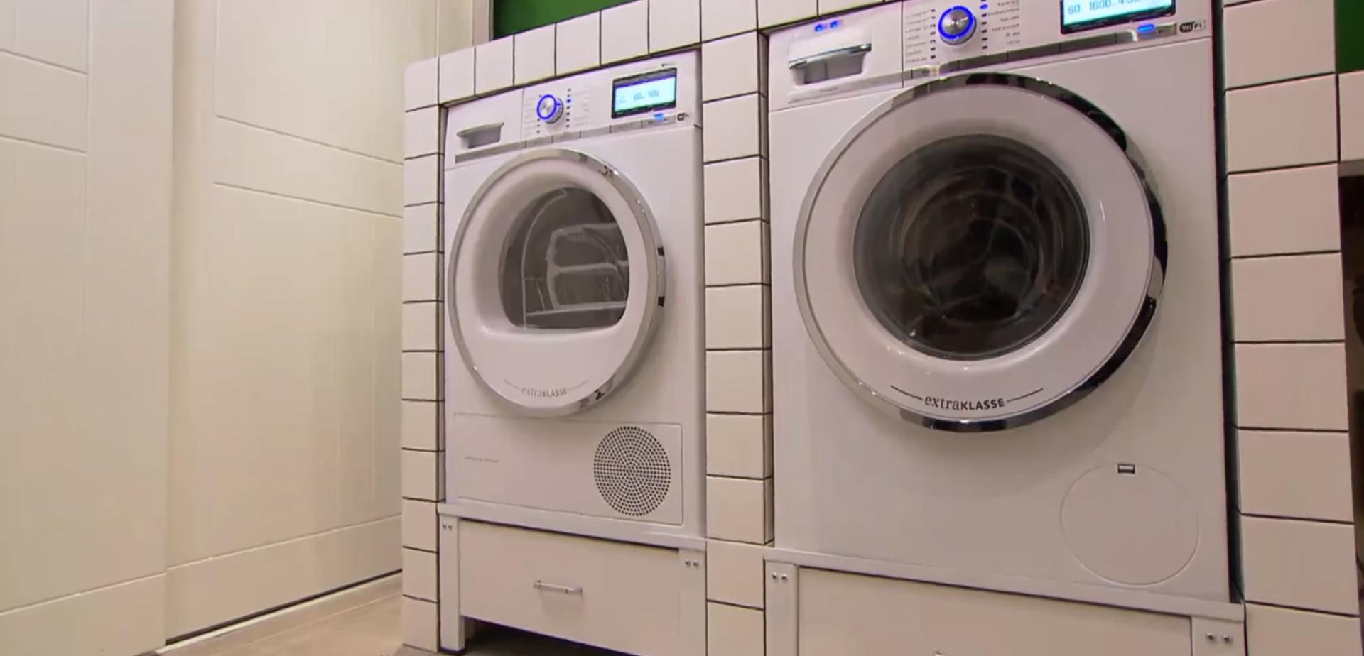 Verrassend Meubel voor de wasmachine en droger aansluiten | voordemakers.nl DO-59