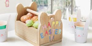 Eieren verzamelen met je paasmandje