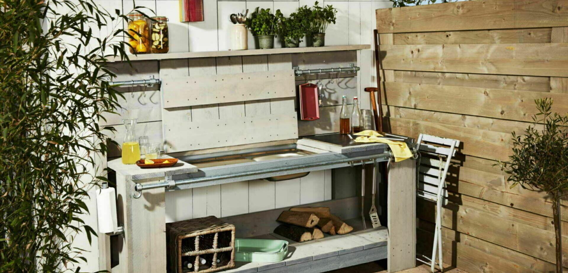 Buitenkeuken maken for Tuin praxis