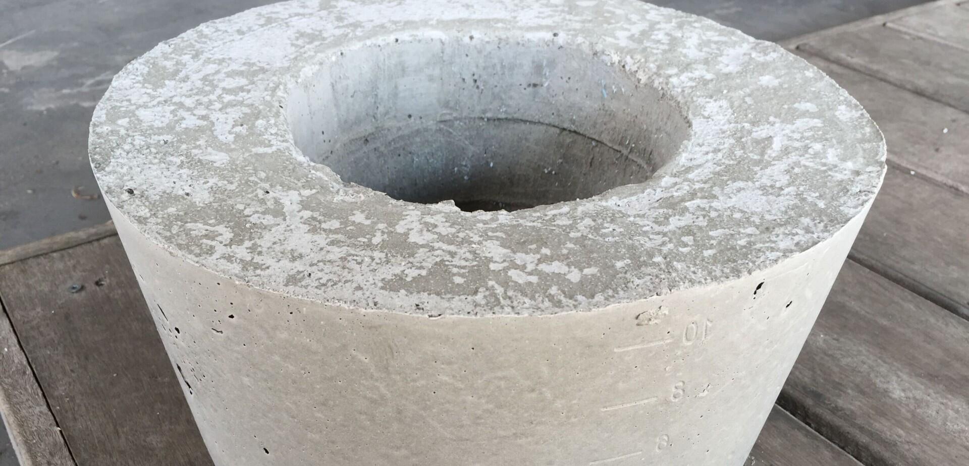 Bloempot van beton maken   Stappenplan
