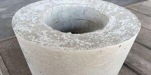 Bloempot van beton maken