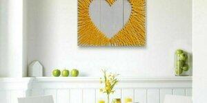 Zelfgemaakte stringart hart
