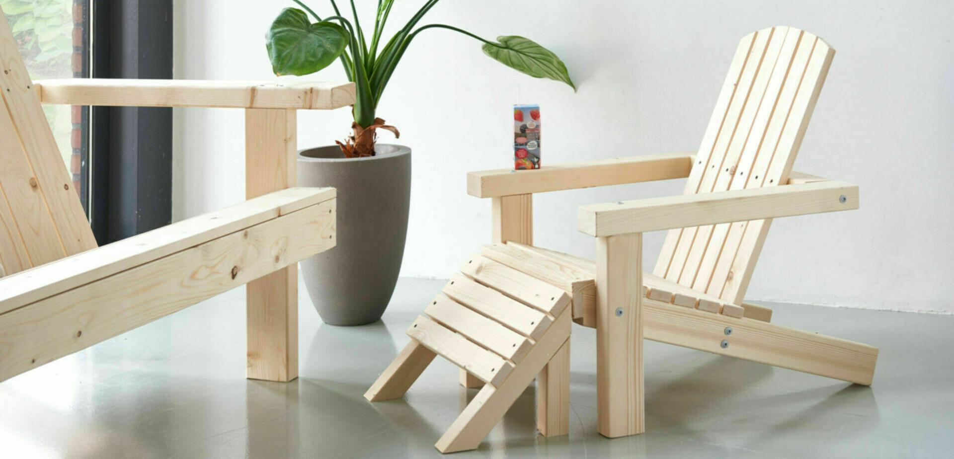 Maak je eigen tuinstoel speciaal voor de kinderen   Stappenplan
