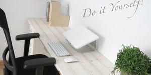 Bureau maken van IKEA ladeblokken & steigerhout