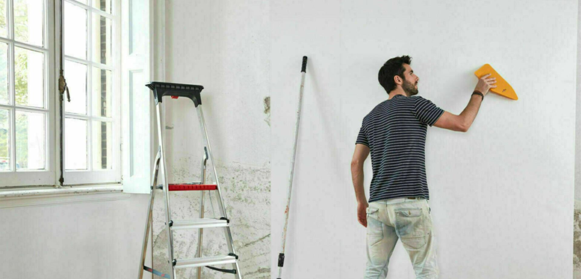 Behangen met quick walls vliesbehang for Gipsplaten behangen met vliesbehang