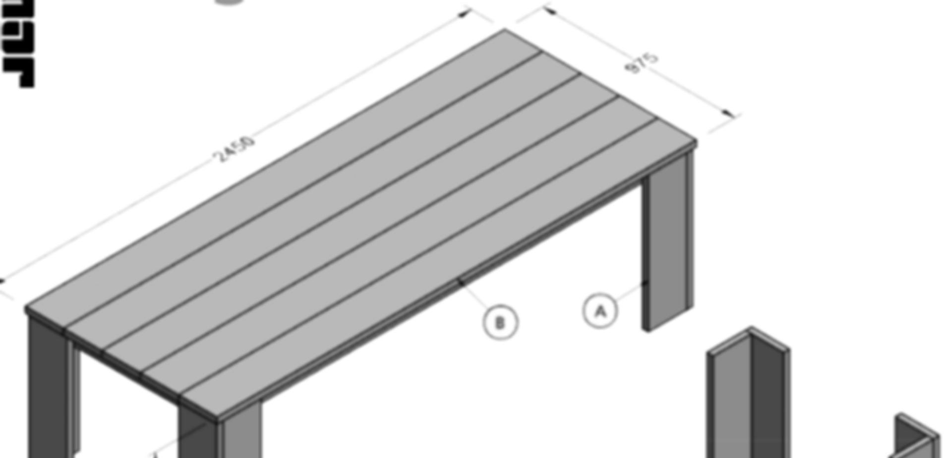 Bekend Bouwtekening houten tafel basic | voordemakers.nl KJ14
