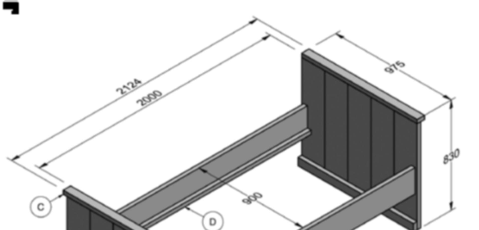 Goede Bouwtekening houten bed | Stappenplan DT-24