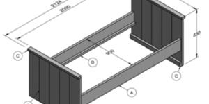 Bouwtekening houten bed