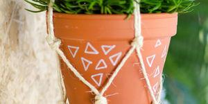 Maak je eigen macramé plantenhanger