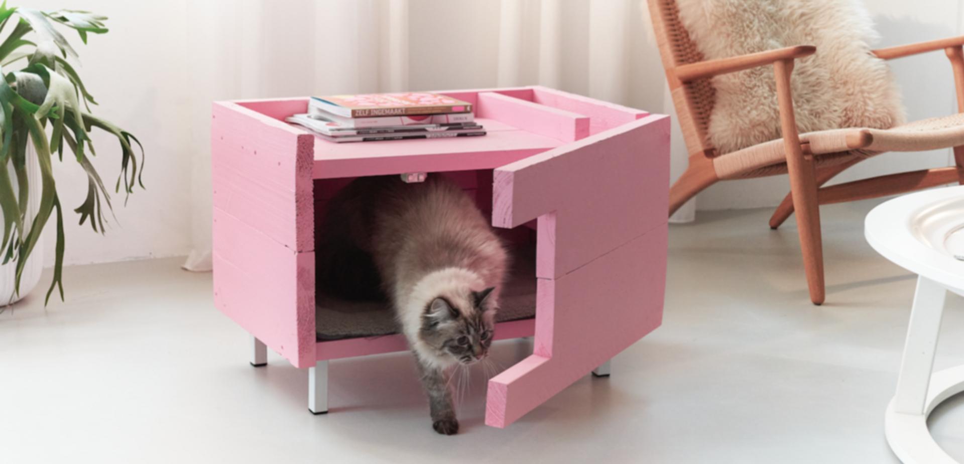 Fonkelnieuw Maak een kattenhuisje | voordemakers.nl ZH-15