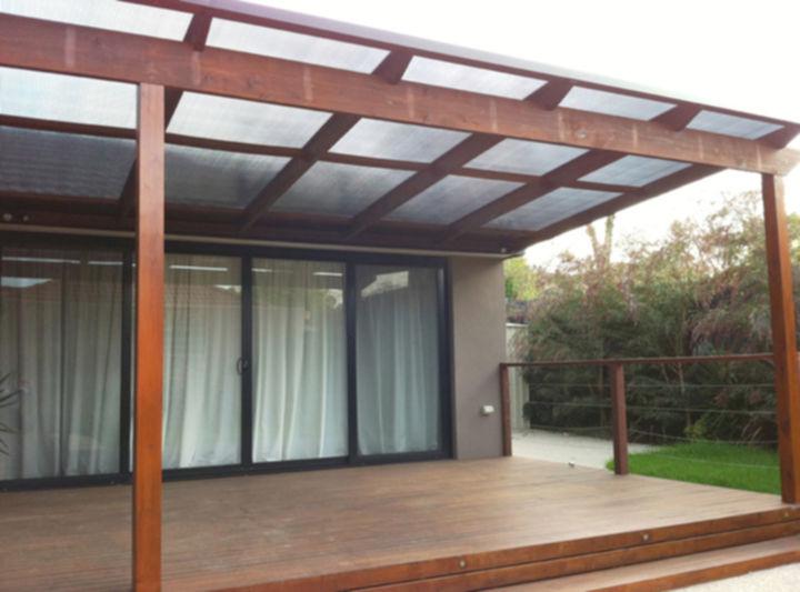Houten Scheidingswand Tuin : Veranda bouwen in de tuin voordemakers
