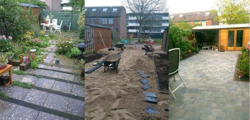 Vernieuwing tuin inclusief tuinhuisje