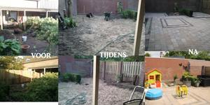 Verbouwing achtertuin. Van wildernis naar kindvriendelijk!