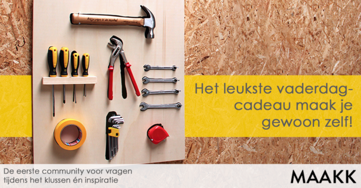 Favoriete Maak een gereedschapsbord | voordemakers.nl @RM46