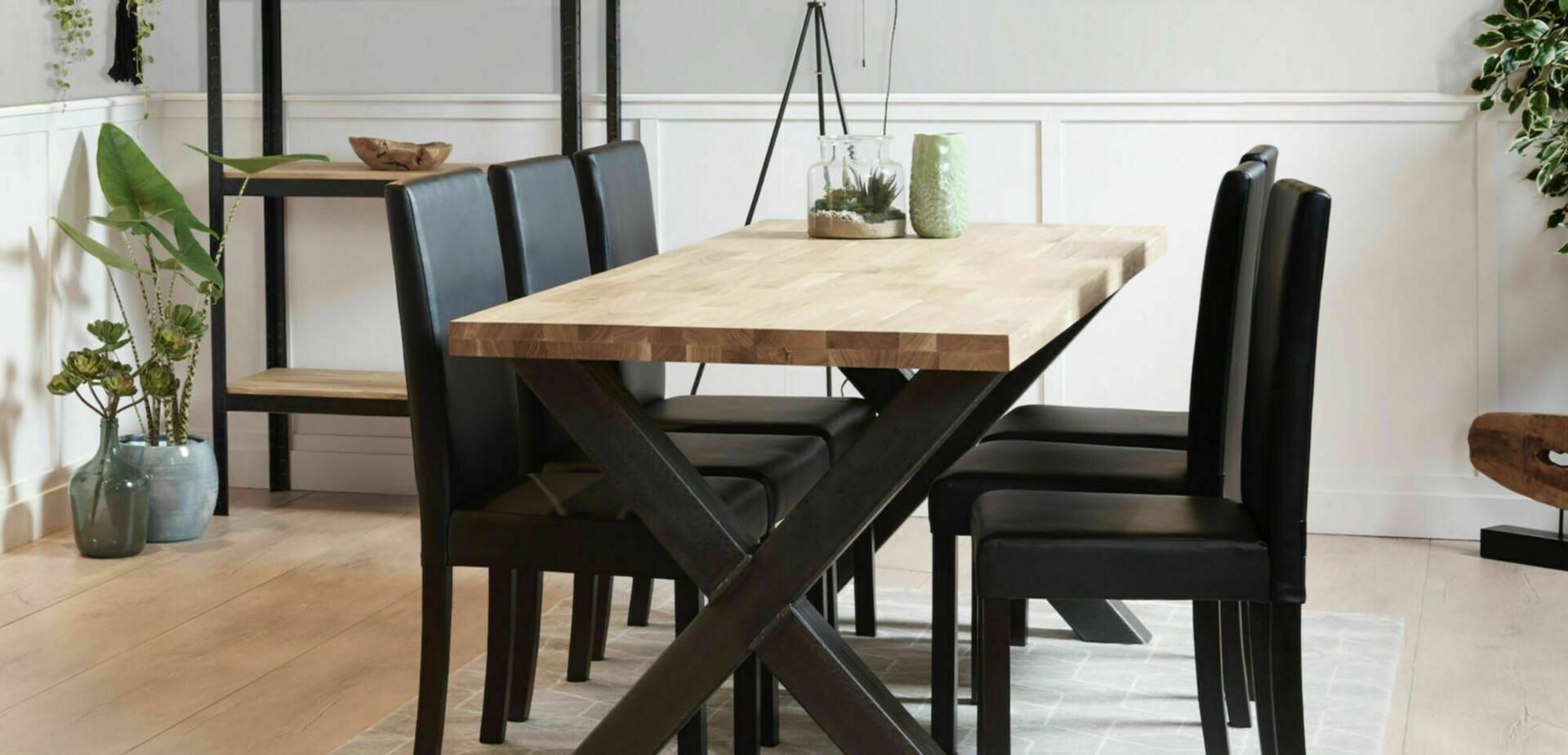 Industriele Sloophout Tafel.Industriele Eettafel Maken Met Stalen Tafelpoten Voordemakers Nl