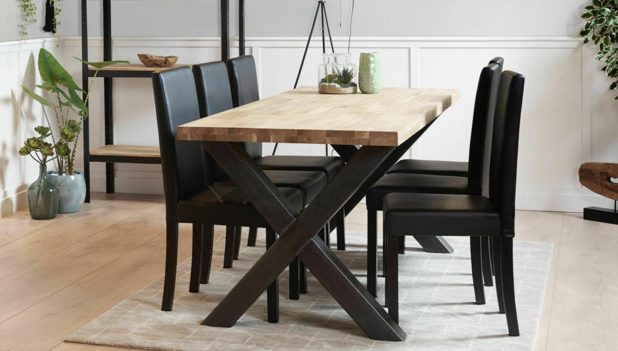 Tafel Met Poten.Industriele Eettafel Maken Met Stalen Tafelpoten Voordemakers Nl