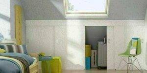 Schuifdeuren voor een opbergruimte op zolder