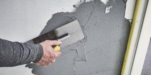Muur in betonlook maken