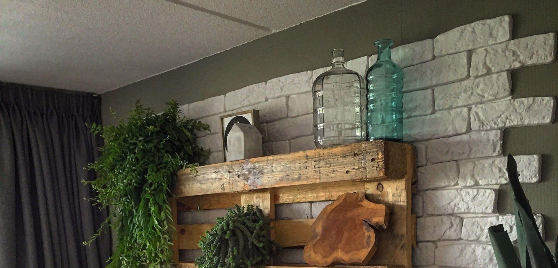 Wanddecoratie pallet | voordemakers.nl
