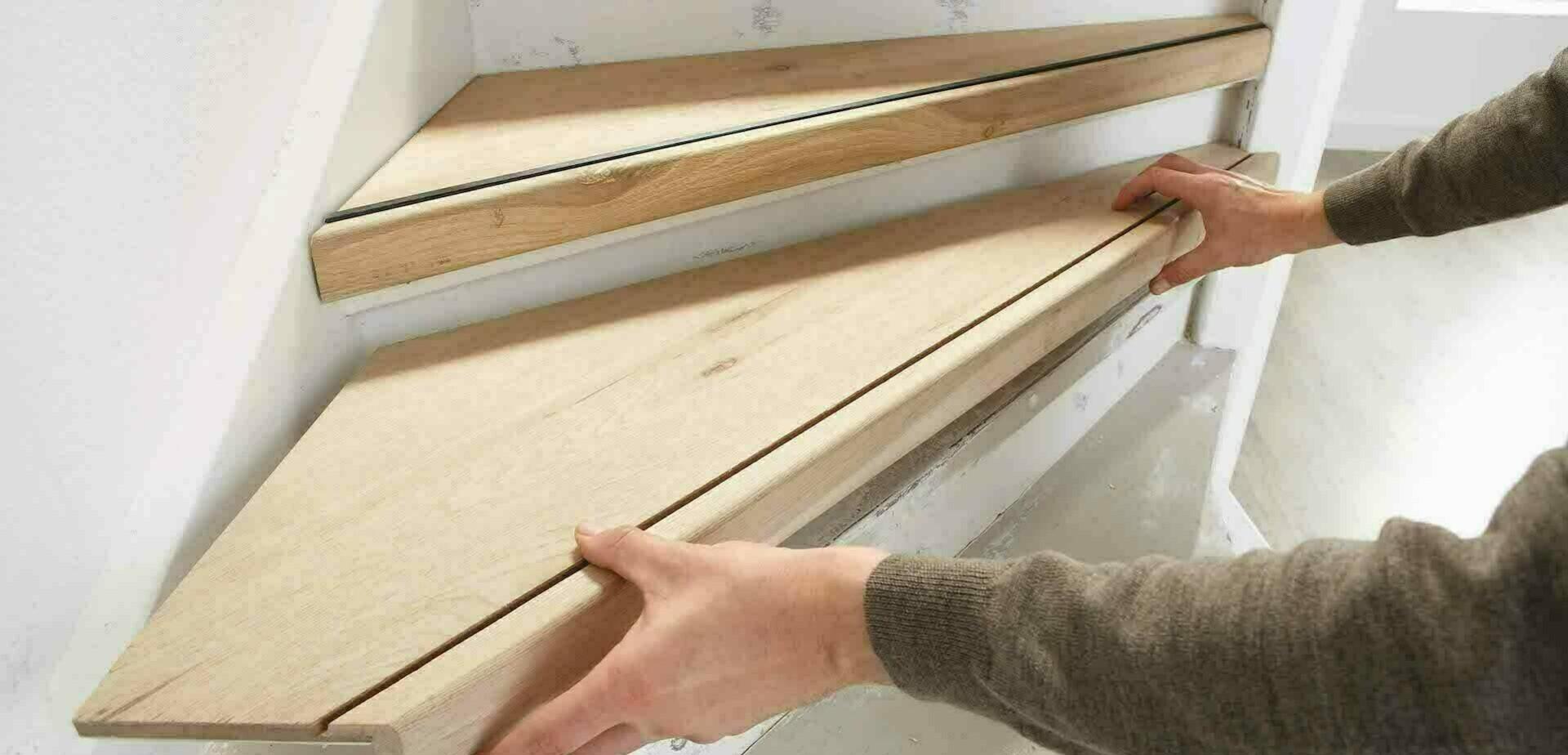 Traprenovatie met cando doe het zelf traprenovatie systeem for Hout voor traptreden