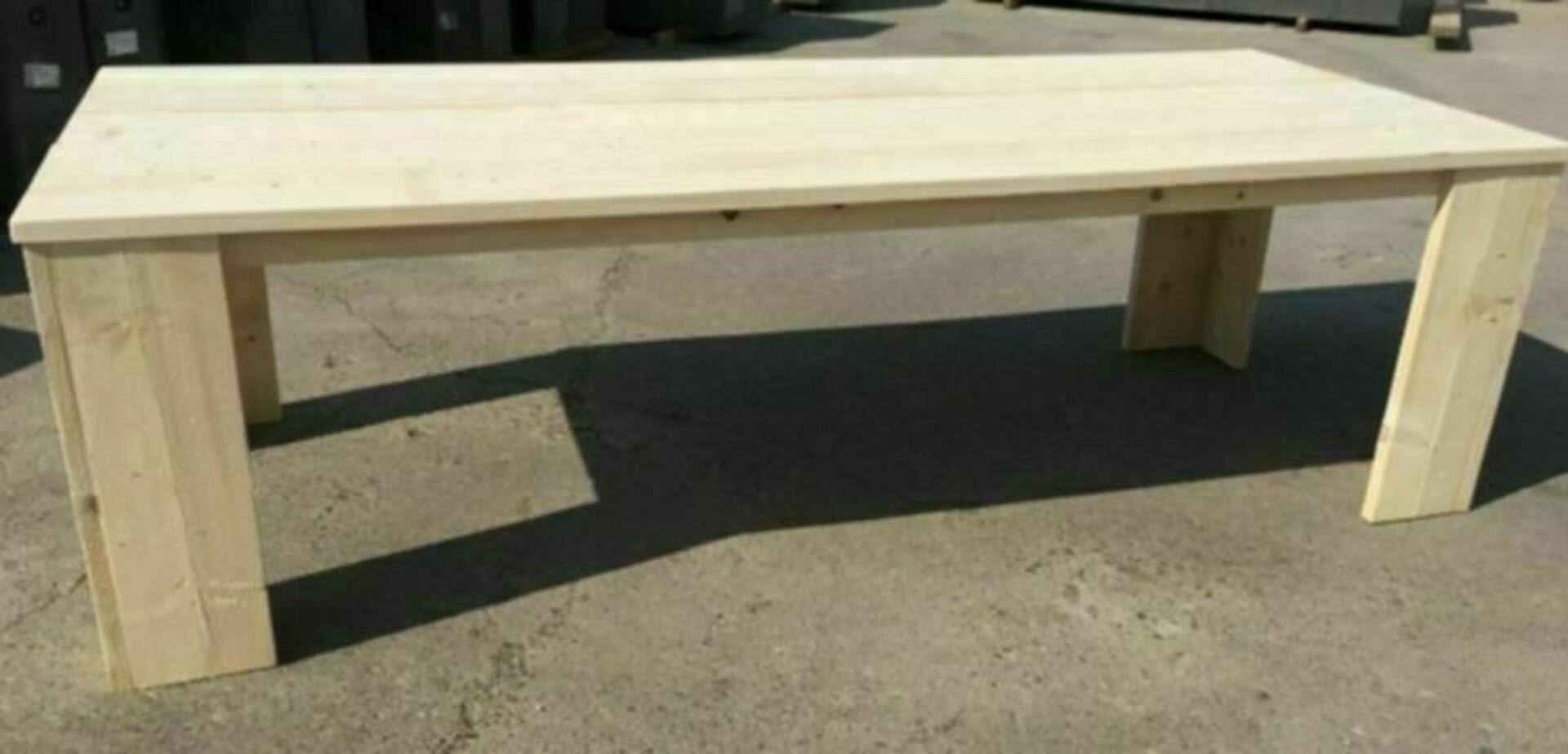 Steigerhout tafel basic for Bouwtekening tafel