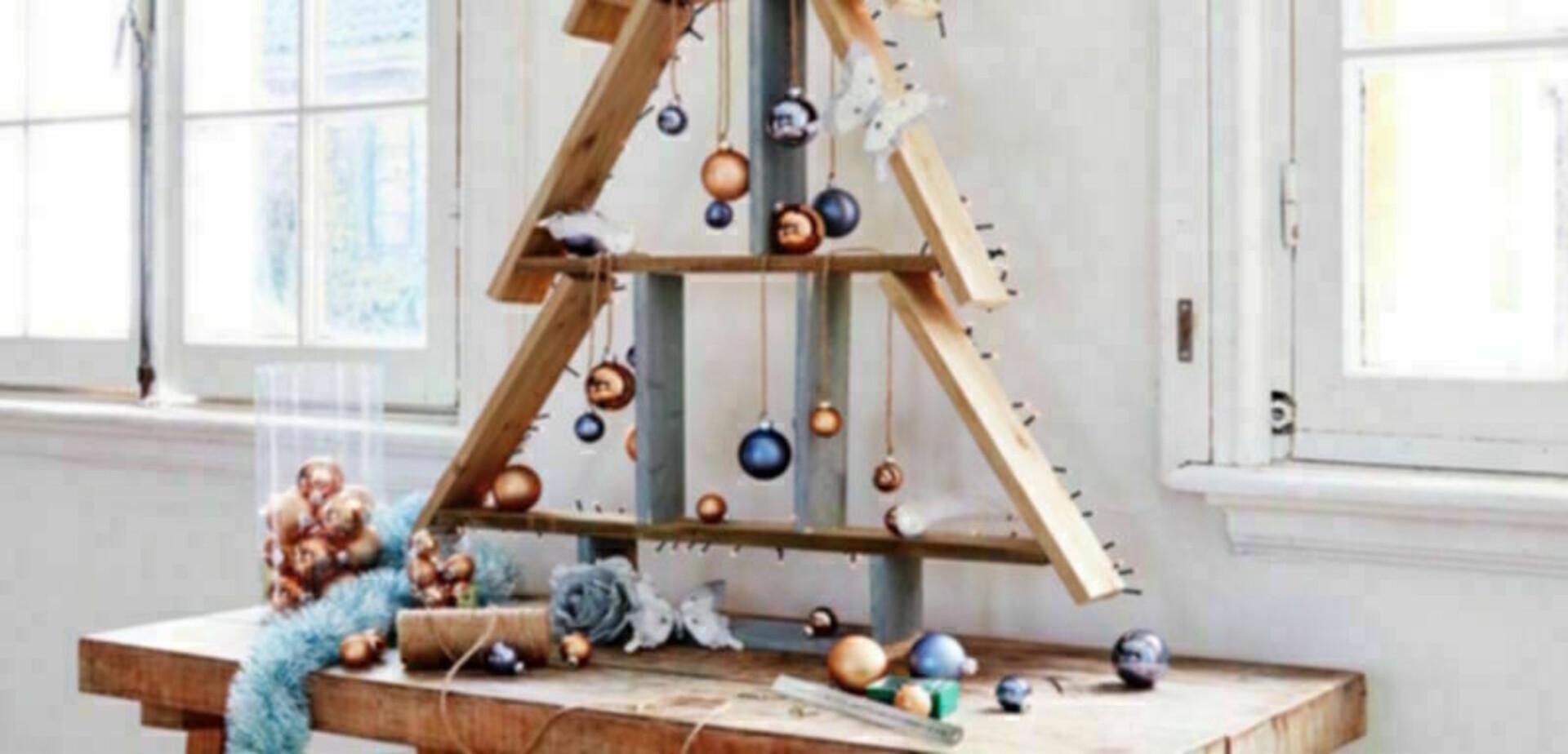 Houten kerstboom maken for Foto op hout maken eigen huis en tuin