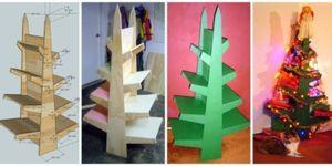 Kerstboom van underlaymentplaten