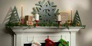Sneeuwvlok decoratie met initiaal