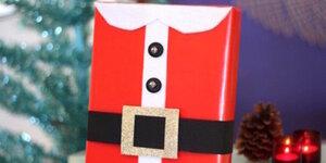 Kerstman pak verpakking maken