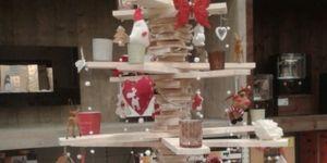 Kerstboom van houten latten
