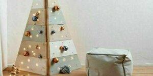 Houten kerstboom van steigerhout