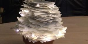kerstboom van boekpapier