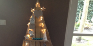 Zelfgemaakte kerstboom.