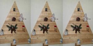 kerstboom wandbord