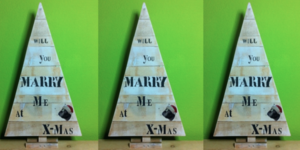 Will you marry me at christmas tree