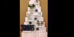 Steigerhouten kerstboom + 100 lampjes