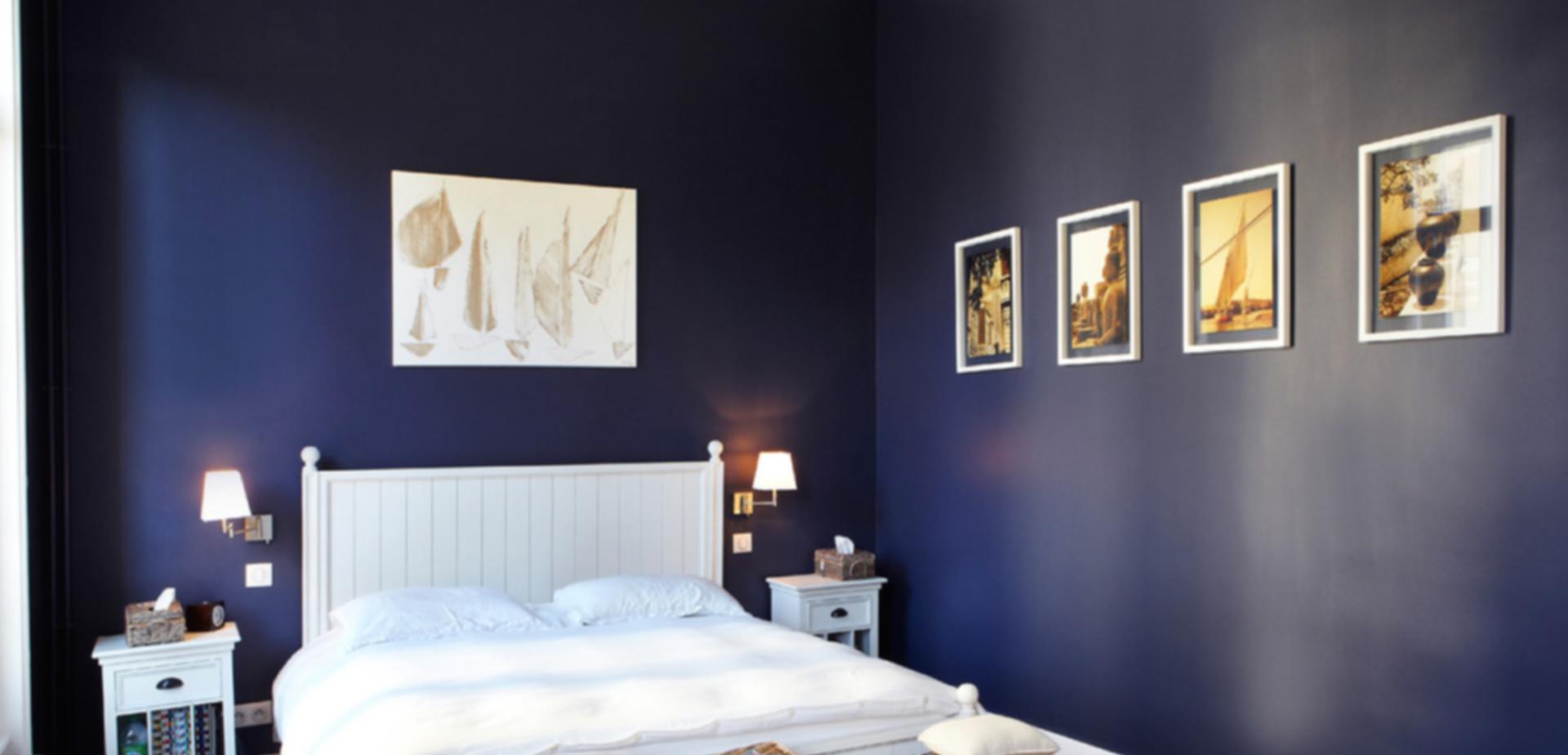 Aparte kleuren voor in de slaapkamer for Kleuridee voor volwassen kamer