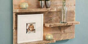Wandpaneel van steigerhout