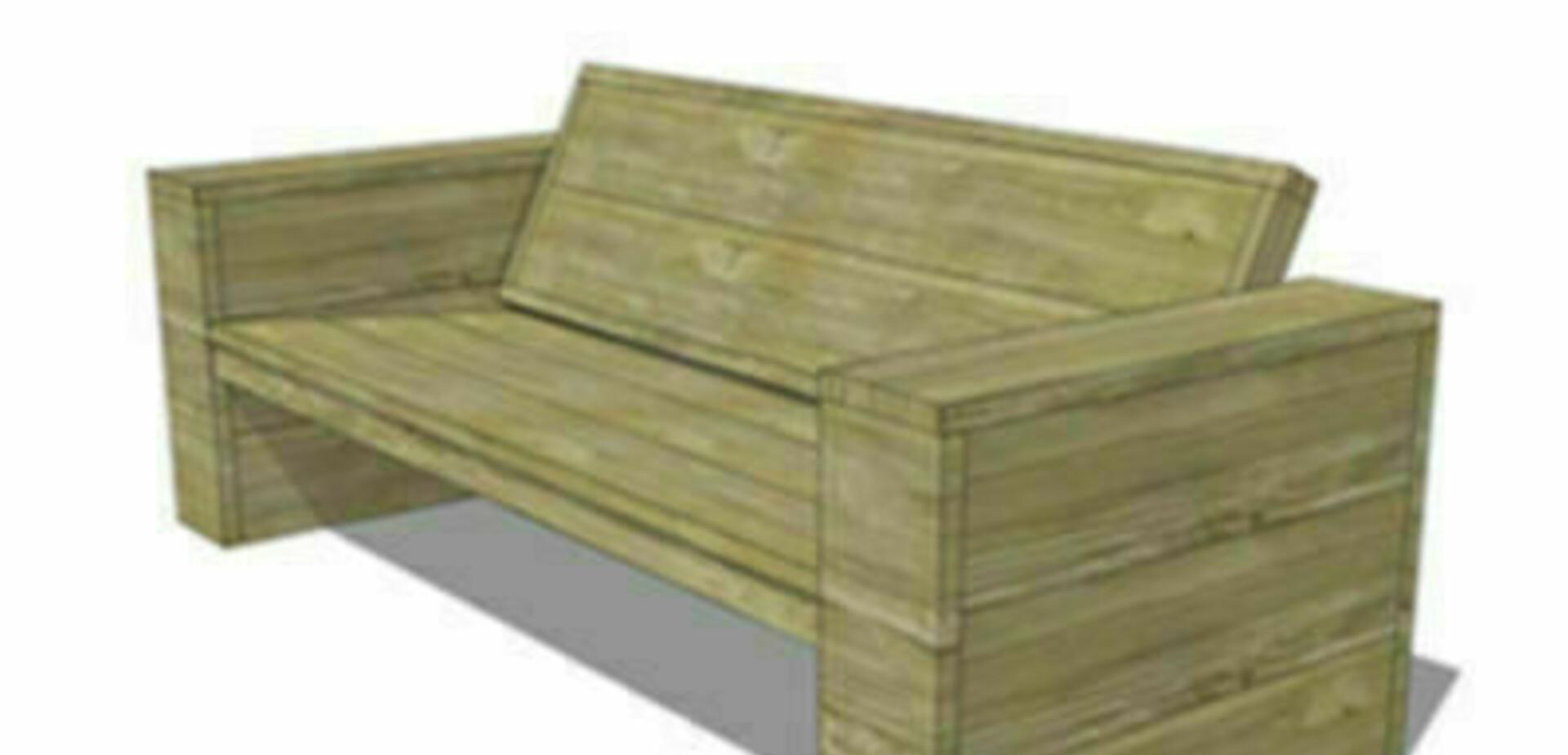 Bank van steigerhout maken for Steigerhout praxis