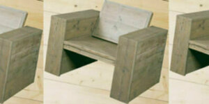 Stoel van steigerhout maken