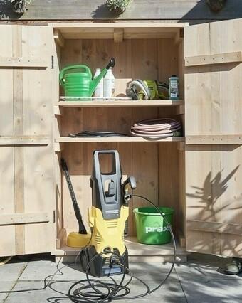 Hoe maak ik een tuinkast van steigerhout?
