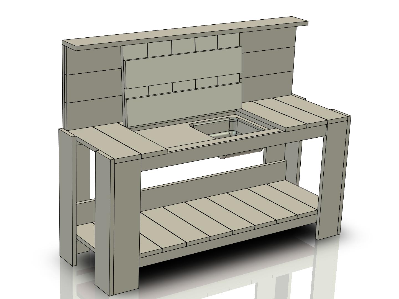 Buitenkeuken maken for Keuken zelf ontwerpen