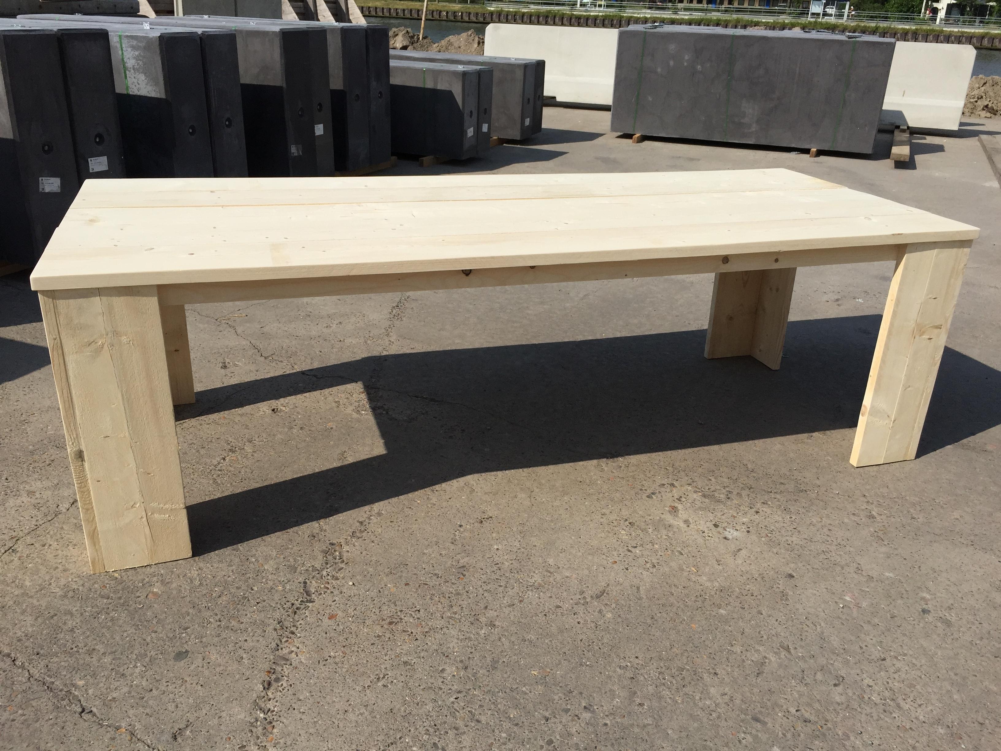 Bouwtekening houten tafel basic voordemakers