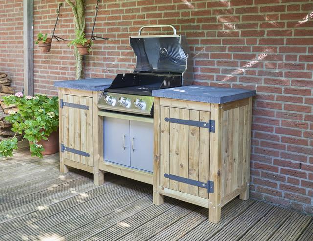 Zelf Barbecue Maken : Ombouw maken voor gas bbq voordemakers