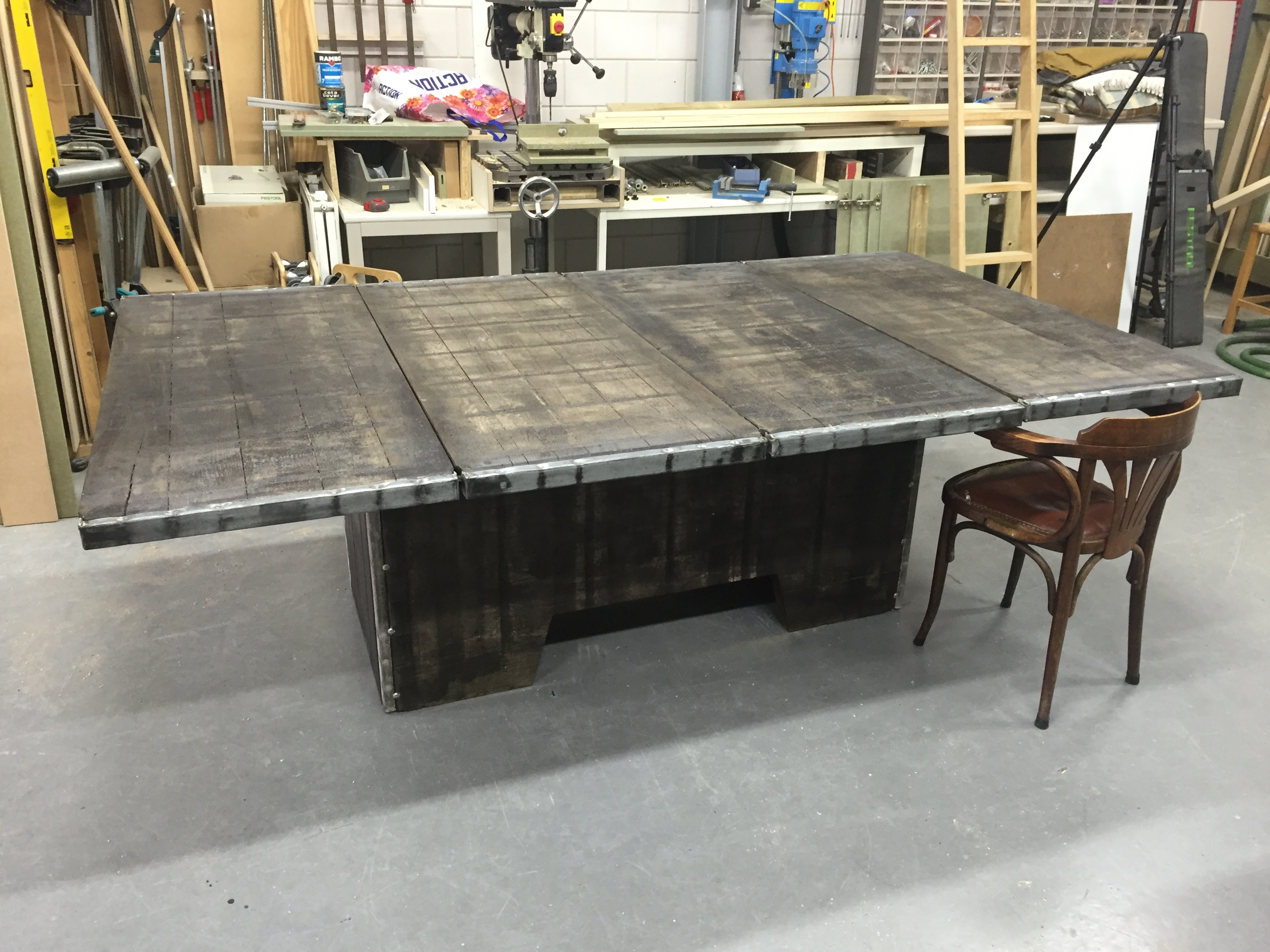 Bekend Een kloostertafel maken uit steenschot | voordemakers.nl #XM85