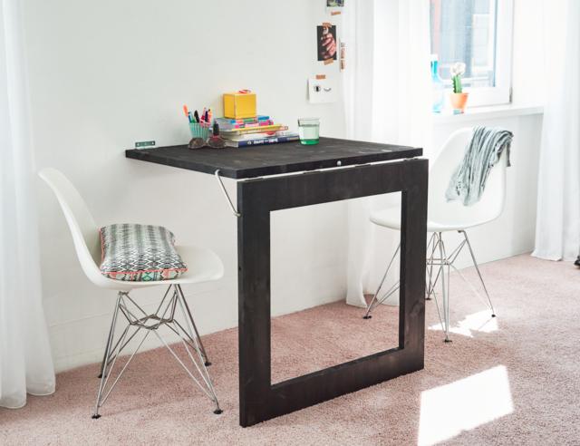 Een opklapbare spiegel tafel maken for Opklapbare tafel