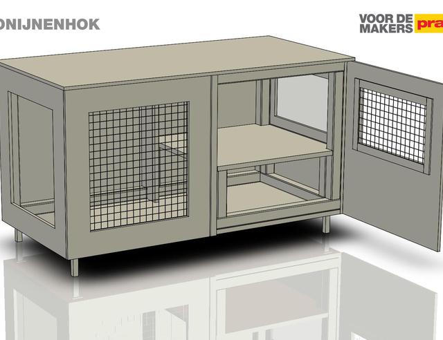 Hedendaags Een konijnenhok maken | Stappenplan KW-13